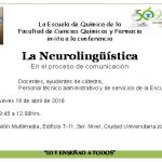 """19.04.2018 Conferencia """"La Neurolingüistica"""" en el proceso de comunicación"""