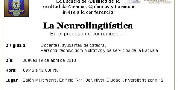 19.04.2018 Conferencia «La Neurolingüistica» en el proceso de comunicación
